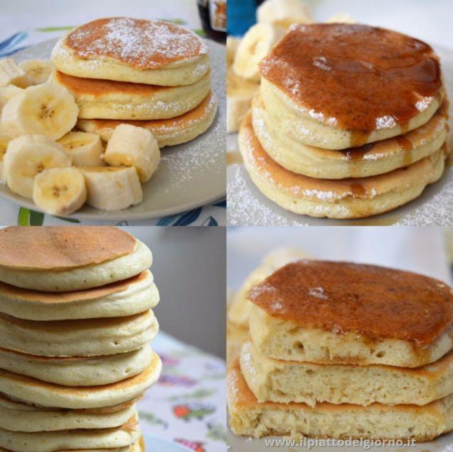 Ricetta Pancake Con Bicarbonato.Pancakes Alti E Soffici Low Fat Ricette Light Il Piatto Del Giorno