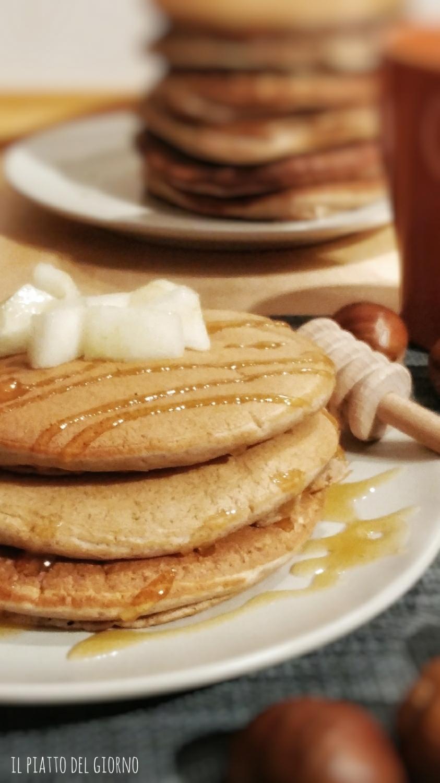 pancakes castagne e vaniglia