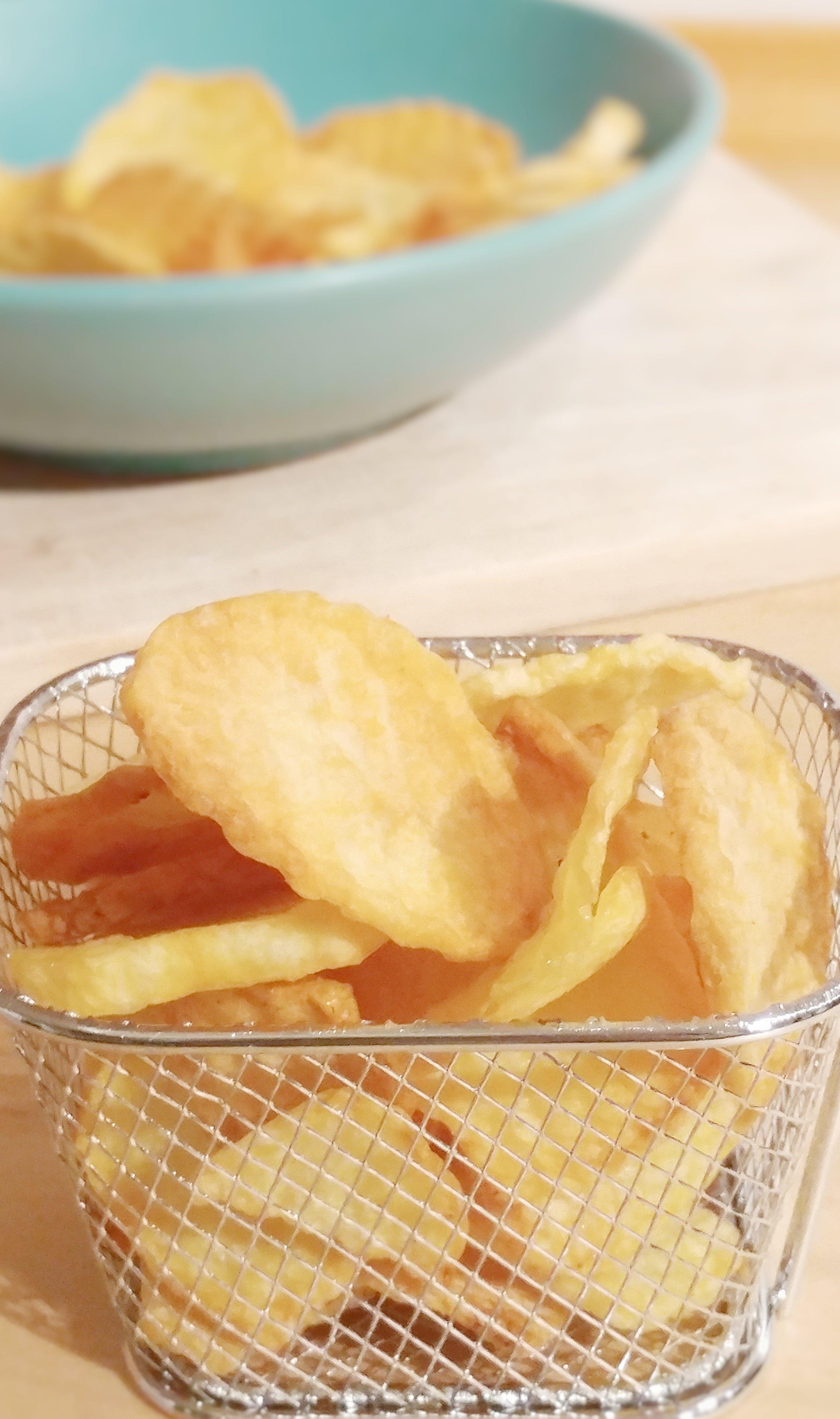 patatine rustiche fritte non fritte