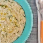 porridge salato con zucchine e grana padano