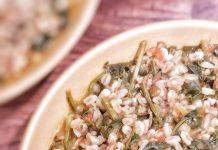 zuppa di lenticchie, spinaci e farro perlato